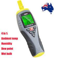 4 in 1 Handheld Thermo Hygrometer Wet Bulb Dew Point Humidity Temp Meter 321B