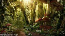 Mushroom Forest Vinyl Photography Background Backdrop Studio Props 10X10FT MH592