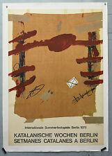Affiche ancienne originale entoilée :  TAPIÈS - Stemanes catalanes Berlin 1978