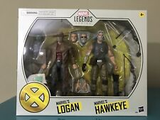 X-Men Marvel Legends Hawkeye and Old Man Logan 6-Inch 2-Pack in hand