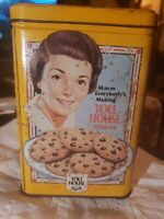 """6 1/4"""" HIGH NESTLE CHOCOLATE  TOLL HOUSE COOKIES   TIN CAN    EMPTY used"""