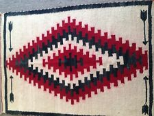 HAND WOVEN WOOL NATIVE AMERICAN RUG ITEM# 6139-6