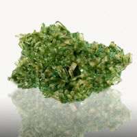 "3.8"" GREEN SELENITE Sharp Gemmy Terminated Crystals on Matrix Poland for sale"