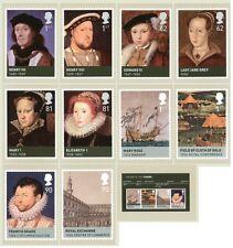 GB POSTCARDS PHQ CARDS MINT FULL SET 2009 AGE OF THE TUDORS TUDOR PACK 322