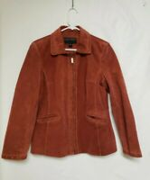 Vintage Brown Women's Large Bernardo Leather Jacket Suede Soft Warm