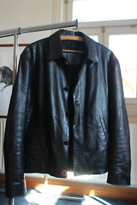 Lederjacke, Versus - Gianni Versace, Gr. 50 in Top Zustand, schwarz