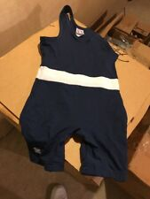 Youth Large Nylon Wrestling Singlet By Brute White Stripe South