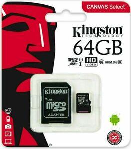 Kinston Memory Card TF Class 10 16GB 32GB 64GB 128GB &SD Adapter-uk sale