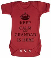 Calm Grandad is Here Baby Bodysuit / Babygrow