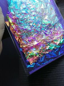 IRIDESCENT DICHROIC COLOUR CRINKLE FILM SHEETS COLLAGE SEWING ART CARD CRAFTS