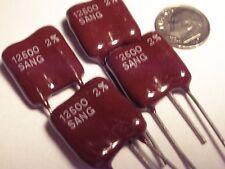10 Pc Sangamo 12500 Pf At 500vdc 2 Silver Mica Capacitors