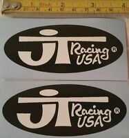 Vintage MX JT Racing decal stickers YZ RM 125 250 400 Maico AHRMA Works Wh / Blk