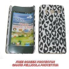 Pellicola+custodia BACK cover LEOPARDO BIANCO per Huawei Ascend Y300