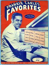 FRANKIE CARLE'S FAVORITES - 8 SELECTIONS for PIANO (1943)