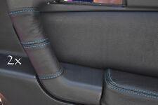 Se adapta a Alfa Romeo Gtv Cuero 2x Manija De Puerta cubre Azul stitc