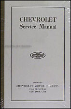 Chevy 490 and FB Shop Manual 1924 1923 1922 1921 1920 1919 1918 1917 Chevrolet
