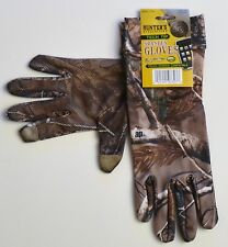 HUNTER'S SPECIALTIES TECH TIP UNLINED SPANDEX GLOVES REALTREE AP BITE GRIP NEW