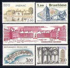 France 1983 Tourism/Buildings/Church/Fort/Tower/Abbey/Architecture 5v set n30147