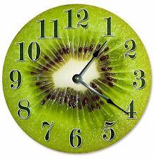 """KIWI FRUIT CLOCK - Large 10.5"""" Wall Clock - 2087"""