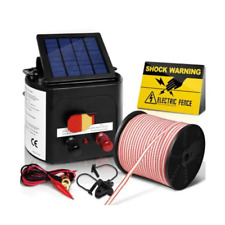 Solar Power 5Km Electric Fence Farm Animal Pet Energiser Energizer Charger 0.15J