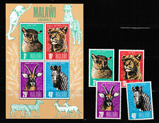 MALAWI 1976 SET + M.S.,  MALAWI ANIMALS.   M.N.H./MINT