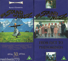 The Sound of Music Special 30th Edition VHS + Bonus Documentary + Certificate