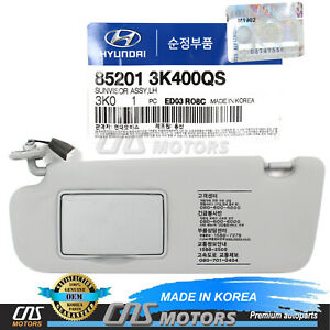 GENUINE Sun Visor Driver LH for 2006-2010 Hyundai Sonata OEM 852013K400QS⭐⭐⭐⭐⭐