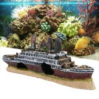 Titanic Model Boot Schiff Wrack Versunkene Schiffswrack Aquarium Boot Decoration