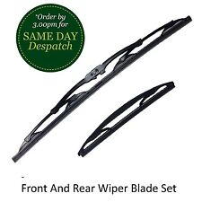 CITROEN C1 MK1 05-14 FRONT & REAR WINDSCREEN WIPER BLADES X2 COMPLETE SET