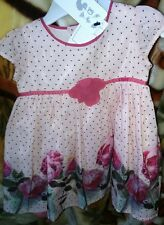 Marks And Spencer Baby Girl 3-6 Months Floral Dress Ideal For Wedding/Occasion