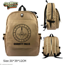 Gravity Falls Backpack Bill Cipher Schoolbag Satchel Canvas Laptop Bag Otaku 01