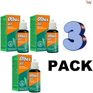 3 x Olbas Oil Inhalant Decongestant Catarrh Colds Blocked Sinus 12ml