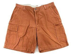Columbia Men's Cotton Flat Front Cargo Shorts Burnt Orange • Size 36