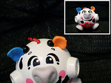 Bumble Ball Bounce & Giggle Cow Toy Vibrating Fisher Price  one ear torn