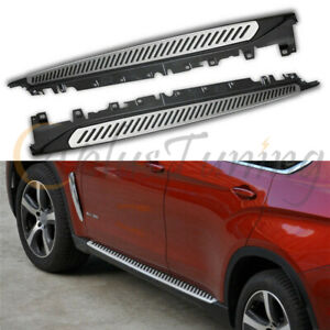 2PCS Running Boards Side Step Nerf Bars fits for BMW X6 F16 2015-2021 Aluminum