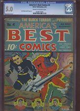 AMERICA'S BEST COMICS #4 CGC VG/F: 5.0 CM-OW; scarce!