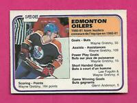 1981-82 OPC # 126 OILERS WAYNE GRETZKY TEAM LEADERS GOOD CARD  (INV# D1989)