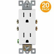 ENERLITES Tamper Resistant Duplex Receptacle Outlet Child Safe 20 Pack
