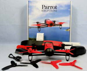 Parrot BeBop 14.0 MP Red Camera Drone Quadcopter Full HD 1080P 3-Axis Stabilized