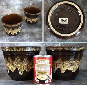 Vintage Pair BAY KERAMIK W German Fat Lava Plant Pots Mid Century Modern Ceramic