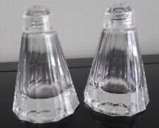 Paloma Picasso Villery & Boch German Crystal Salt & Pepper Shakers Signed