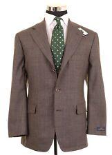 Brooks Brothers Stretch Brown Glen Plaid Sport Coat Jacket Blazer 41 S