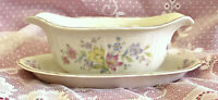 Syracuse Briarcliff GRAVY BOAT WITH ATTACHED UNDERPLATE