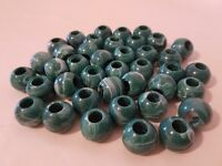 "Lot of 40 Caramel Marbella Plastic Acrylic Round Macrame Craft Beads 22mm 7//8/"""
