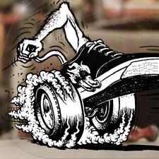 Burnout Shoe Aufkleber Sticker Autocollante Pegatina V8 Hemi Big Block 427 Mopar