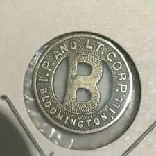 Bloomington Illinois IL I P & LT Corp Transportation Token
