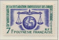 French Polynesia Stamp Scott #206, Mint Never Hinged