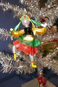 "De Carlini Italian Blown Glass Ornament Romanian Dancer Christmas 6"" Tall"