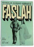 Faslah 1976 Raman Khanna, Shabana Azmi PressBook Vintage Bollywood Booklet