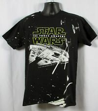 STAR WARS Mens Black Star Wars The Force Awakens Action T-Shirt Size Large NWT